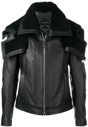 Les Hommes oversized collar lined jacket