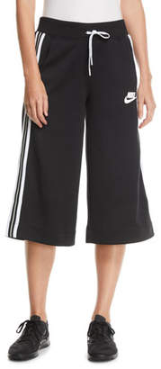 Nike Activewear Cropped Drawstring Track Pants w/ Racer Stripes