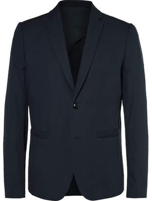 Folk Blue Counter Slim-Fit Cotton-Piqué Blazer