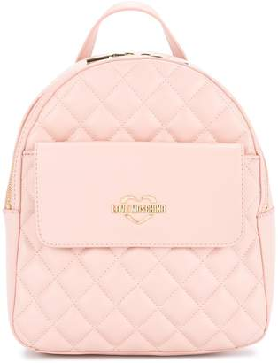 Love Moschino small quilted backpack