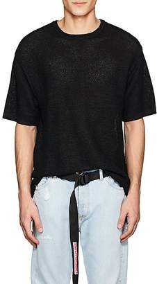 Saturdays NYC Men's Pacho Birdseye-Knit Cotton-Blend T-Shirt