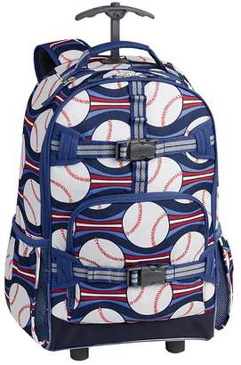 Pottery Barn Kids Mackenzie Navy/Blue Baseball Classic Lunch Bag