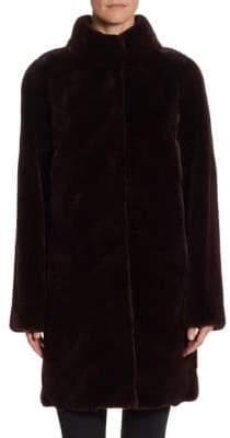 The Fur Salon Quarter Length Mink Velvet Coat
