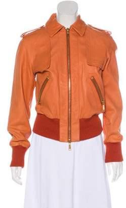 Rachel Zoe Long Sleeves Leather Jacket w/ Tags