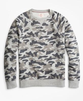 Brooks Brothers French Terry Camo Crewneck Sweatshirt