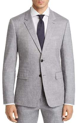 Theory Gansevoort Solid Slubbed Summer Slim Fit Suit Jacket