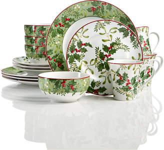 222 Fifth Christmas Foliage 12-Pc Dinnerware Set