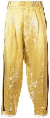 Haider Ackermann printed drop-crotch trousers