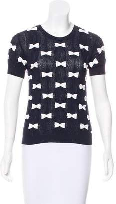 Chanel Bow Knit Top