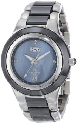 Mother of Pearl Oniss Paris Women's ON435-L/BK Analog High-Tech Ceramic Case Mother-Of-Pearl Dial Swiss-Quartz Watch