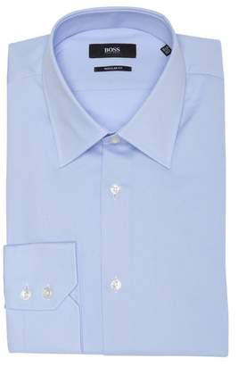BOSS Enzo Solid Regular Fit Dress Shirt