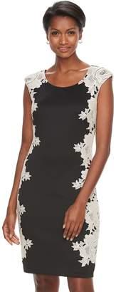Jax Women's Floral Lace Sheath Dress
