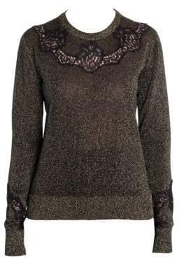 Dolce & Gabbana Lace Insert Lurex Sweater