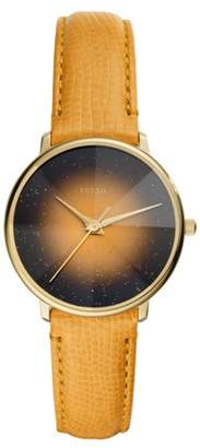 Fossil Prismatic Galaxy Three-Hand Yellow Leather Watch jewelry