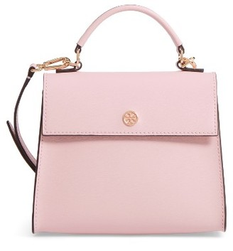 Tory Burch Small Parker Leather Top Handle Satchel - Pink $298 thestylecure.com