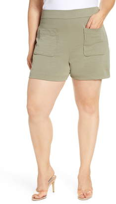 Leith High Waist Patch Pocket Shorts