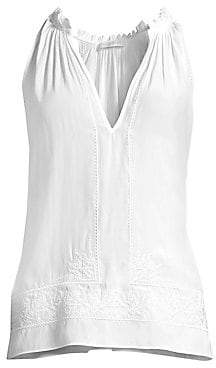 052fc73cb13fc Ramy Brook Women s Madison Embroidered Sleeveless Top