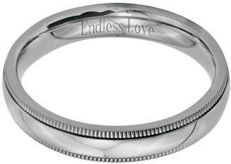 Steel By Design Stainless Steel 4mm Polished Milgrain Engravable Ring