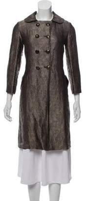 Bottega Veneta Double-Breasted Brocade Coat