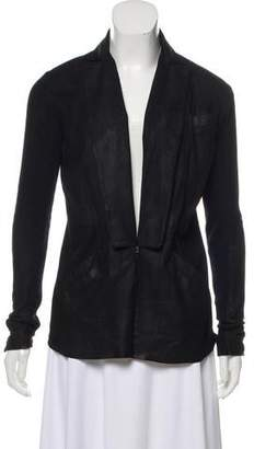 Veda Leather Knit Blazer