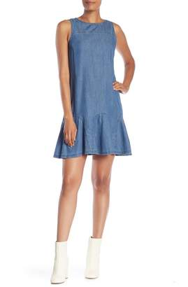 Cynthia Steffe CeCe by Bow Back Denim Dress