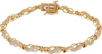 """Affinity Diamond Jewelry 6-3/4"""" Diamond Tennis Bracelet 1/4 cttw, Sterling, by Affinity"""