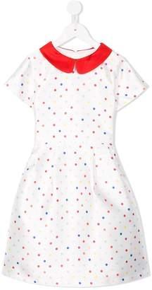 Off-White Charabia polka dot pan collar dress