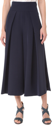 Milly Cady Cropped Slit Culottes $395 thestylecure.com