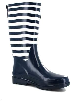 Western Chief Striped Navy Rain Boot