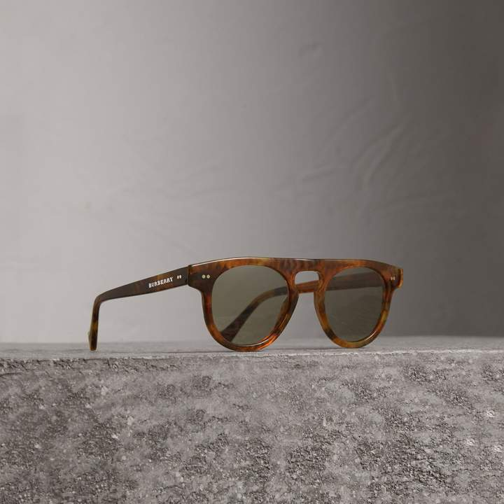 Burberry The Keyhole Round Frame Sunglasses