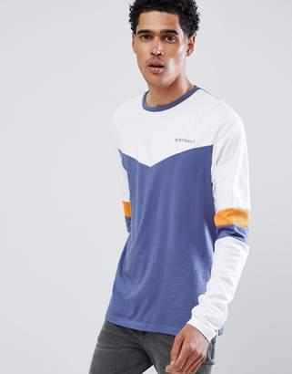 D Struct D-Struct Retro Cut And Sew Long Sleeve T-Shirt