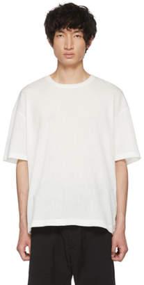Issey Miyake White Crepe Tuck Jersey T-Shirt
