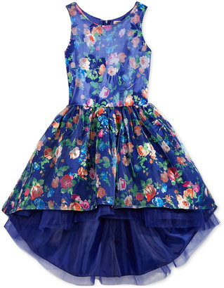 Nanette Lepore Floral-Print High-Low Dress, Big Girls (7-16) $98.50 thestylecure.com