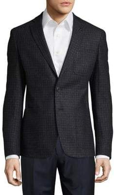 HUGO BOSS Checkered Suit Jacket