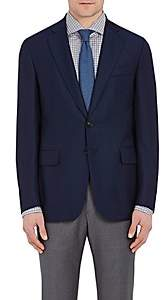 Isaia MEN'S GREGORY BASKET-WEAVE WOOL TWO-BUTTON SPORTCOAT-NAVY SIZE 36 R