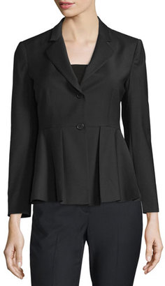 Theory Braneve Continuous Wool-Blend Jacket, Black $525 thestylecure.com