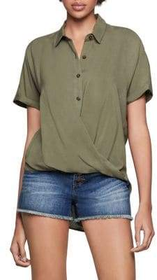 BCBGeneration Wrap-Hem Dolman Sleeve Shirt
