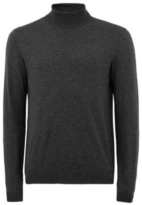 Topman Mens Grey Dark Gray Turtle Neck Sweater