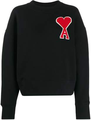Ami Paris logo patch sweatshirt