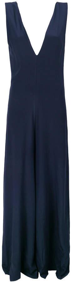 Semicouture sleeveless wide leg jumpsuit