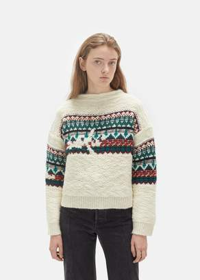 Etoile Isabel Marant Elsey Hand Embroidery Sweater Emerald