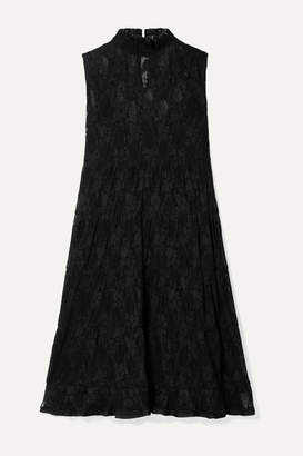 See by Chloe Tiered Lace Mini Dress - Black