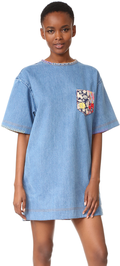 Marc JacobsMarc Jacobs Embellished Denim Dress