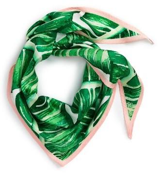 Women's Echo Palm Silk Scarf $39 thestylecure.com