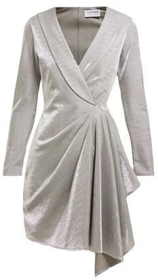 Osman Hanoi Cotton Blend Asymmetric Mini Dress - Womens - Silver