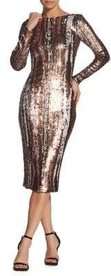 Dress the Population Emery Colorful Sequin Midi Dress
