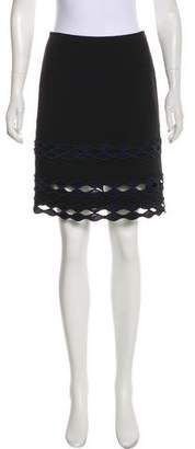 Yigal Azrouel Embroidered Knee-Length Skirt