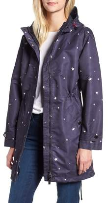 Joules Right as Rain Longline Print Coat