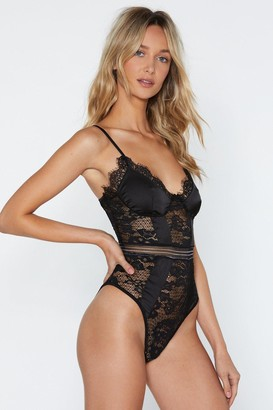 Nasty Gal You Haven't Seen the Lace of Me Bodysuit