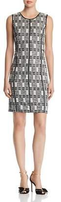 Calvin Klein Metallic Tweed Dress